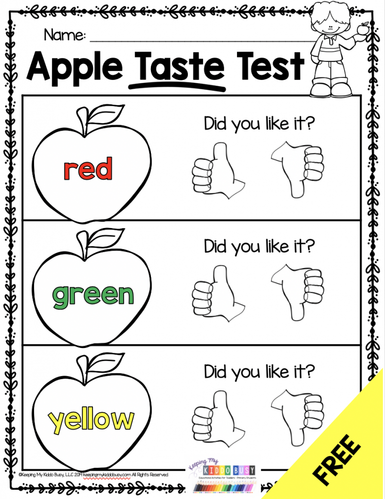 apple taste test recording page
