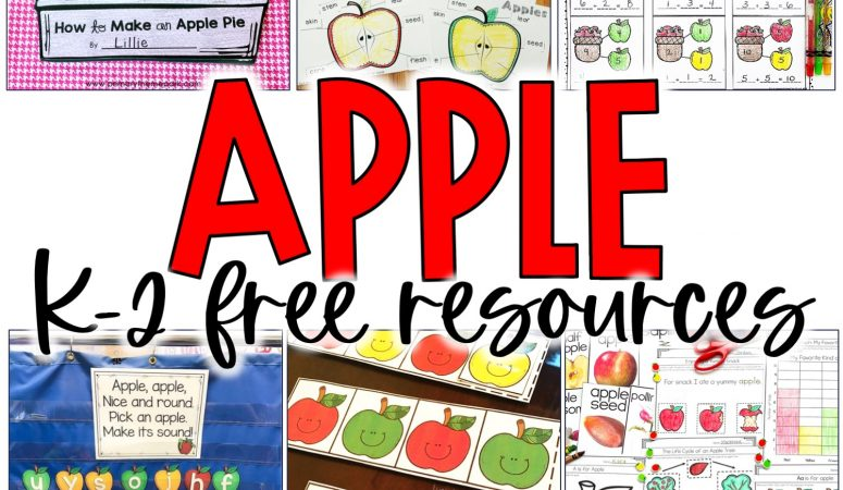 Free Apple Activities for K-2 Classrooms