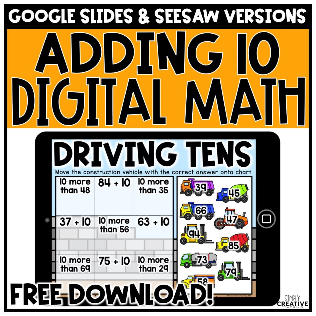 Adding 10 Digital Math Center