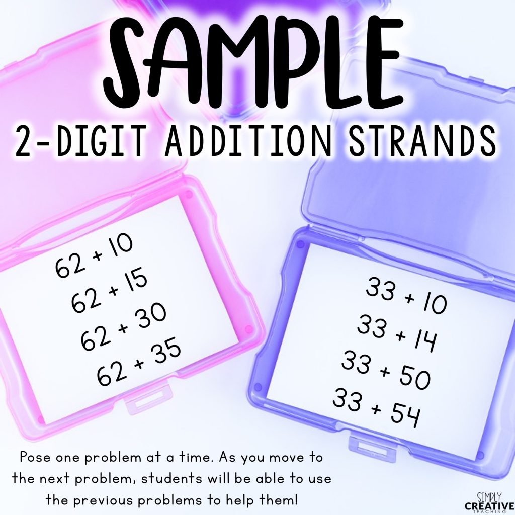 Sample 2-digit addition strands