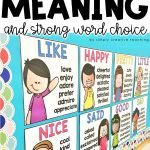 Teach Shades of Meaning and strong word choice