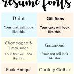 Teacher resume fonts