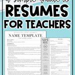 editable teacher resumes