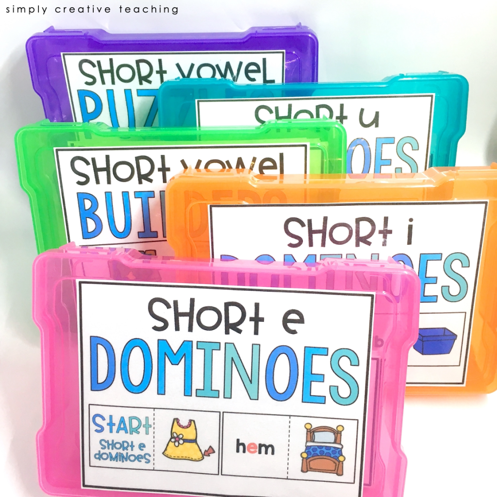 Word Work Activity: Short vowel puzzles and activities