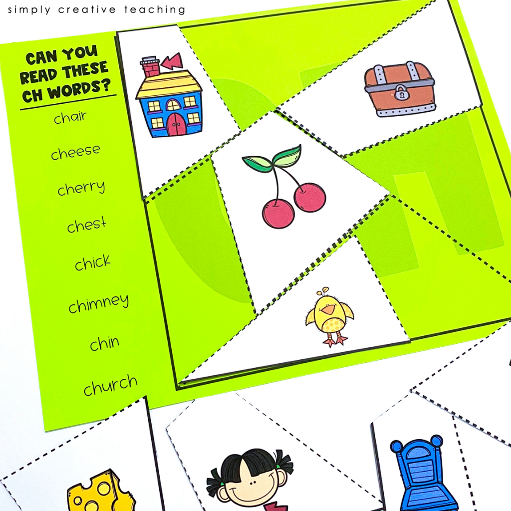 Work Work Activity:Can you read these CH words cut and paste activity