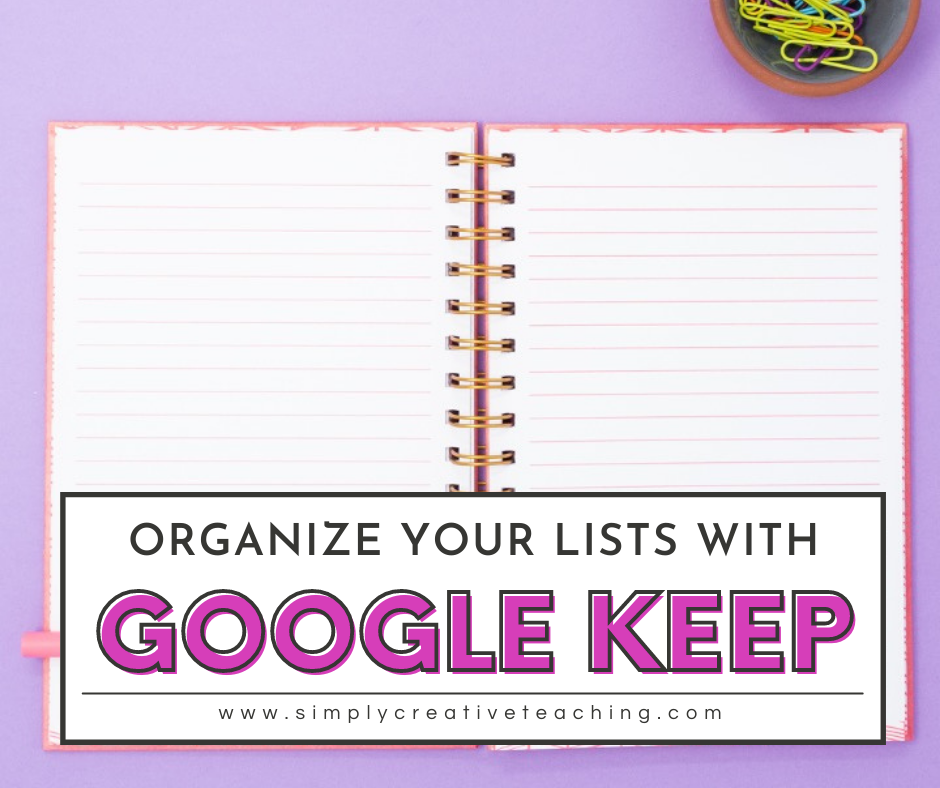 """Image header says, """"Organize your lists with Google Keep"""""""