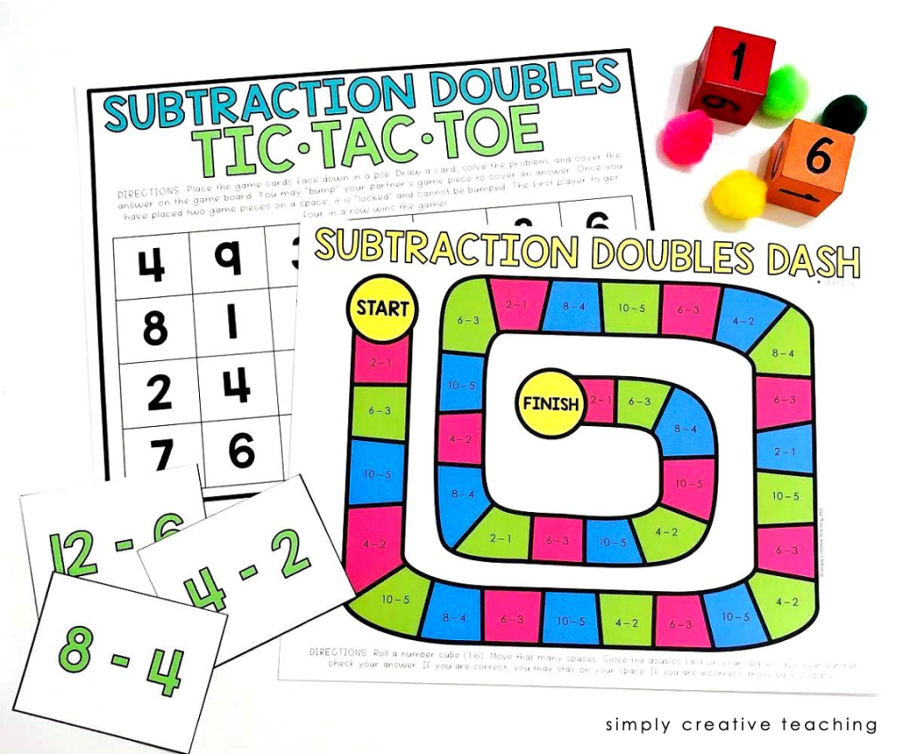 Subtraction Fluency Strategy games