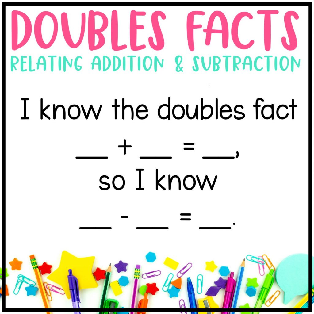 Subtraction Fluency Strategy: Doubles Facts