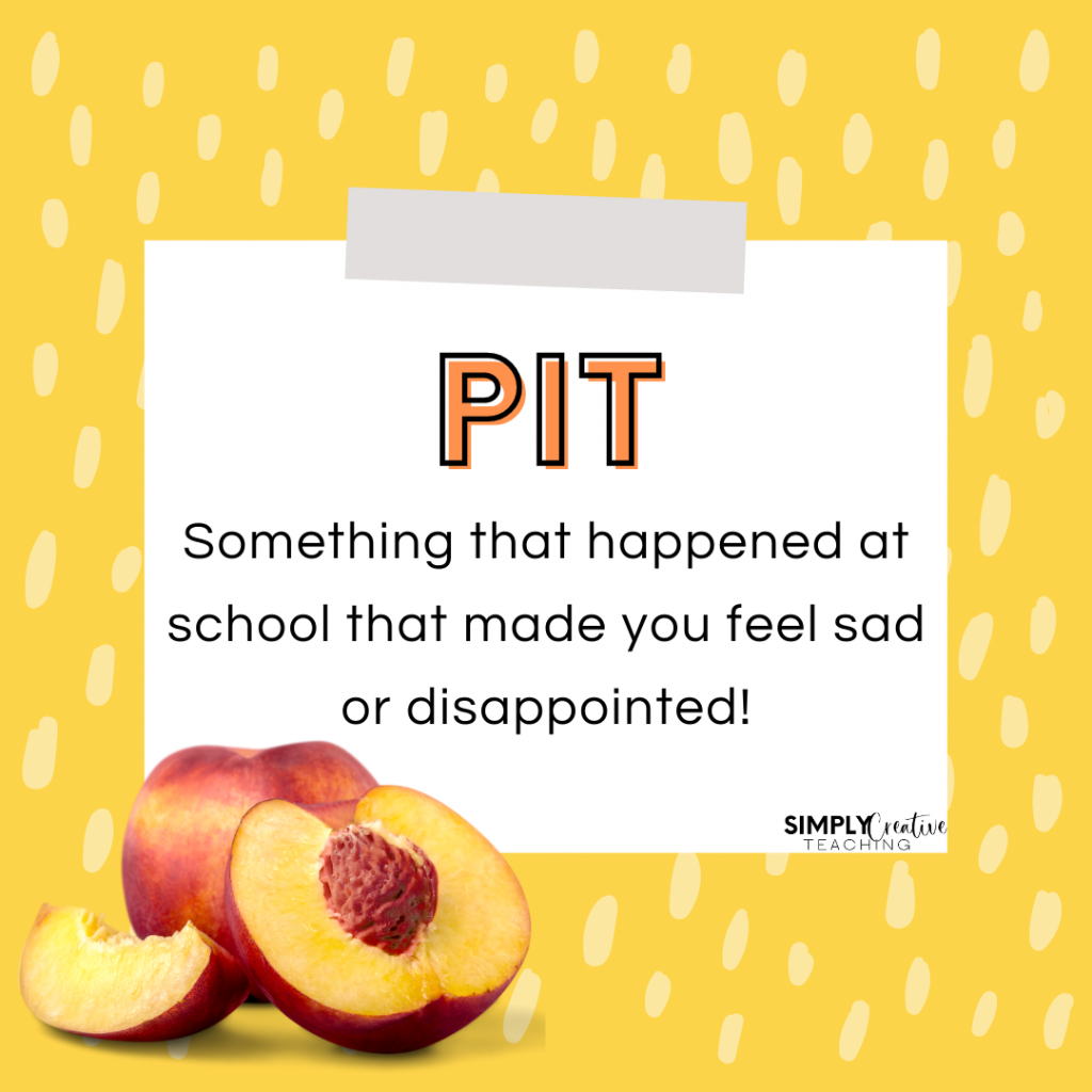 Pits: End of the Day Routine to promote classroom community