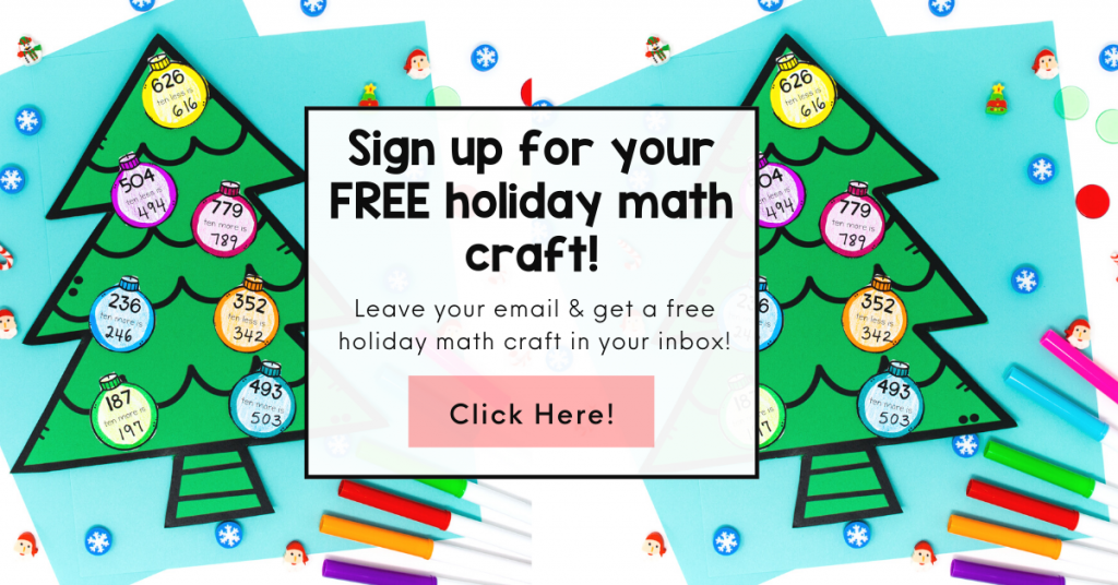 Image links to a sign up for a free holiday math craft.