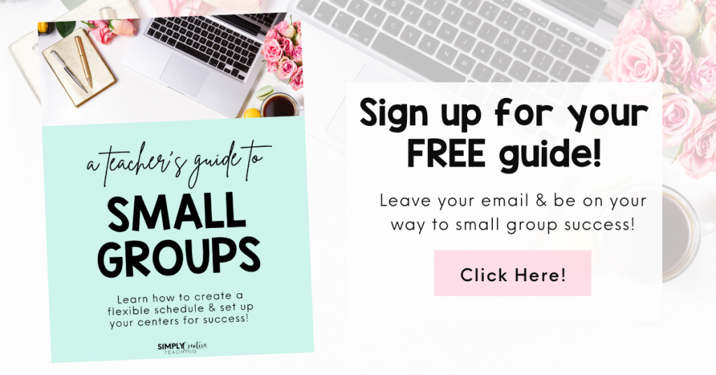 Image links to a free teacher's guide all about small groups.