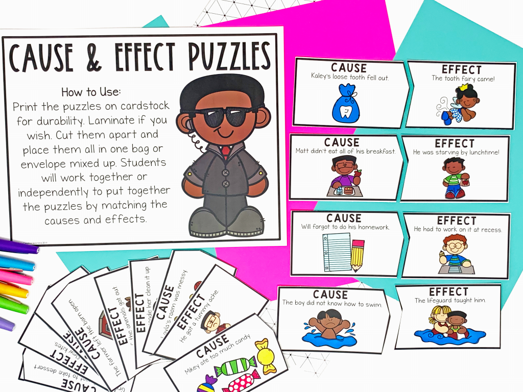 Image shows cause and effect puzzles