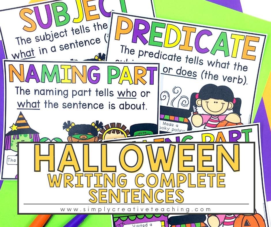 Halloween Writing Complete Sentences
